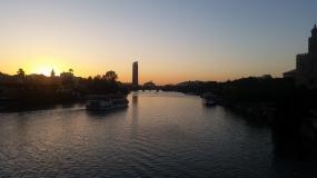 Sonnenuntergang am Guadalcivir