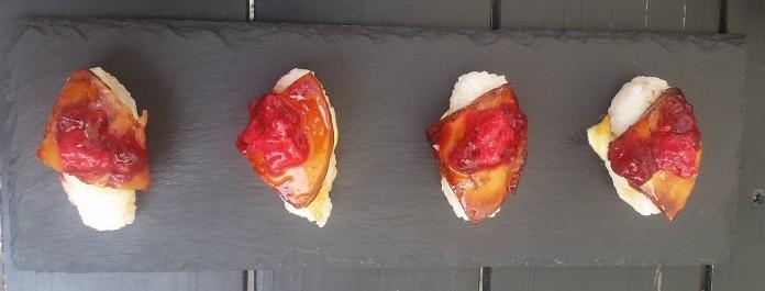Fois Gras Nigiri, The Room Art Cuisine